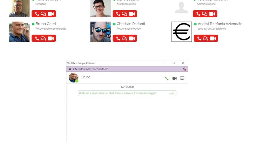 Consenti agli utenti di chiamarti, iniziare una chat e condividere documenti con un solo click.